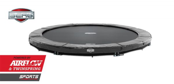 BERG Trampolin InGround Elite Grey Ø380 cm