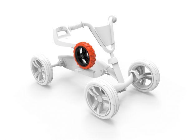 BERG Ersatzteil Rad 9x2 Cross Schwarz/Orange hinten links