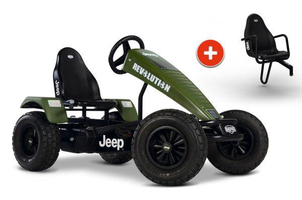 BERG Gokart Jeep® Revolution BFR-3 inkl. Soziussitz Jeep
