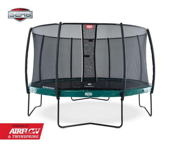 BERG Trampolin Elite Green Ø380 cm + Sicherheitsnetz Deluxe