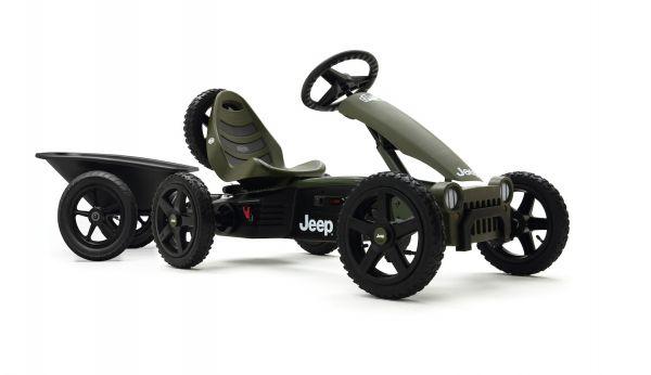 BERG Gokart Rally Jeep® Adventure inkl. Anhänger Junior