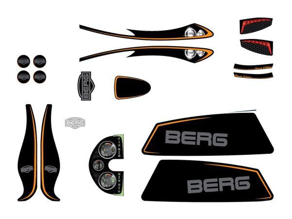 BERG Ersatzteil Sticker-Set XL Rahmen - Aufkleber Black Edition
