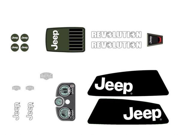 BERG Ersatzteil Sticker-Set XL Rahmen - Aufkleber Jeep Revolution