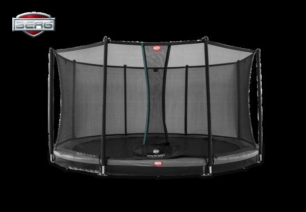 BERG Trampolin InGround Favorit Grey Ø430 cm + Sicherheitsnetz Comfort