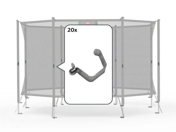 BERG Ersatzteil Fedeclip-Set - Sicherheitsnetz Comfort/Talent (20x)