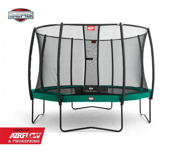 BERG Trampolin Regular Champion Green Ø330 cm + Sicherheitsnetz Deluxe