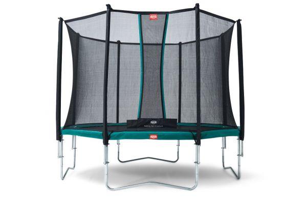 BERG Trampolin Regular Favorit Green Ø380 cm + Sicherheitsnetz Comfort