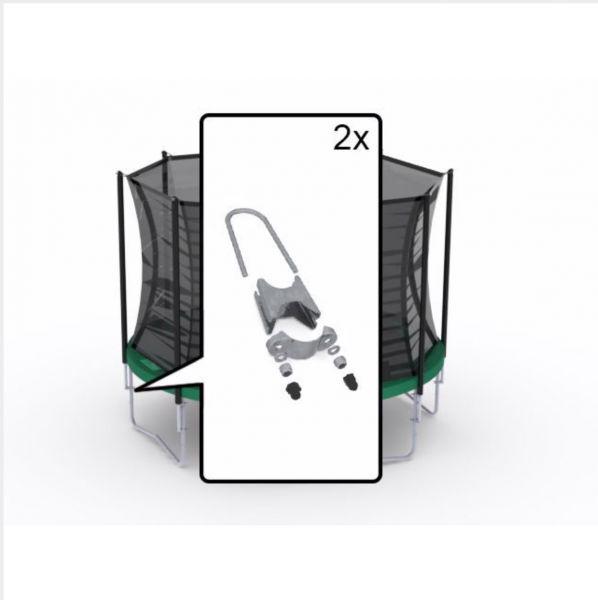 BERG Ersatzteil Befestigungsset für 1x Rohrstange - Sicherheitsnetz Comfort