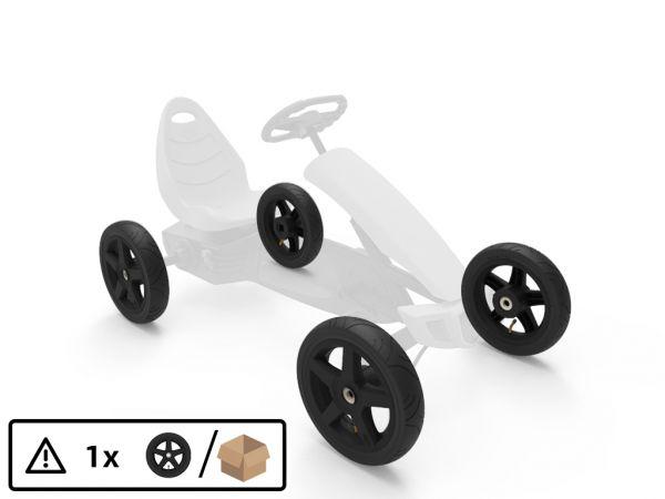 BERG Ersatzteil 1x Komplettrad schwarz für Rally 12.5x2.50-9 Slick