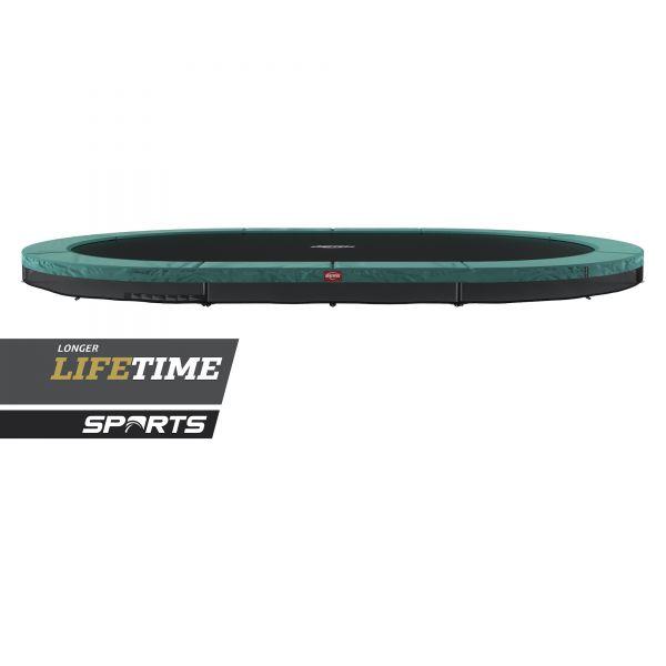 BERG Trampolin InGround GRAND Favorit Green oval 520 x 345 cm