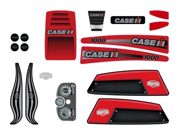 BERG Ersatzteil Sticker-Set XL Rahmen - Aufkleber Case IH