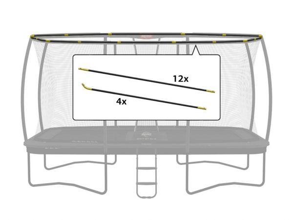 BERG Ersatzteil ULTIM Sicherheitsnetz DLX XL - Fiberglasstangen-Set 500