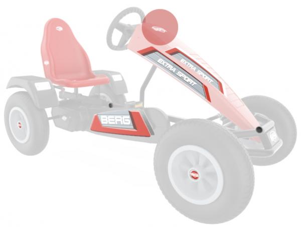 BERG Ersatzteil Sticker-Set XL Rahmen - Aufkleber Basic/Extra Red
