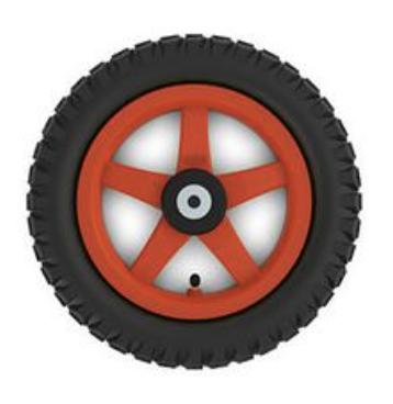 BERG Ersatzteil Rad 12.5 x 2.25-8 All Terrain Rot (Gelände) Fendt