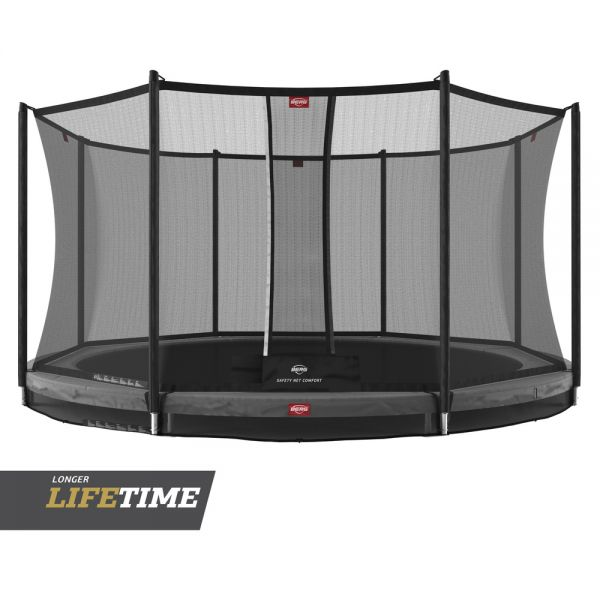 BERG Trampolin InGround Favorit Grey Ø380 cm + Sicherheitsnetz Comfort