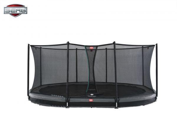 BERG Trampolin InGround GRAND Favorit Grey oval 520 x 345 cm + Sicherheitsnetz Comfort