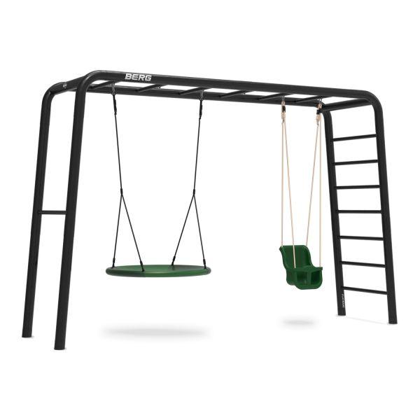 BERG PlayBase 3-in-1 Large mit Reckstange und Leiter inkl. Babysitz und Nestschaukel