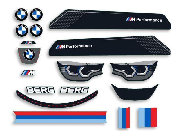 BERG Ersatzteil Sticker-Set Aufkleber Reppy BMW