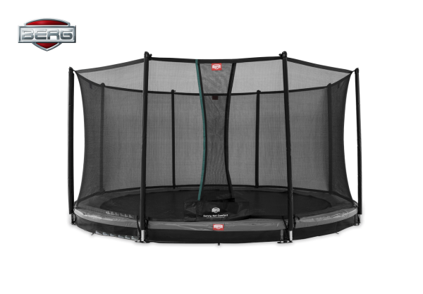 BERG Trampolin InGround Favorit Grey Ø330 cm + Sicherheitsnetz Comfort