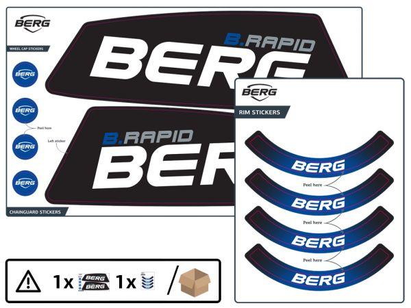 BERG Ersatzteil Sticker-Set XL Rahmen Aufkleber B.Rapid Blue