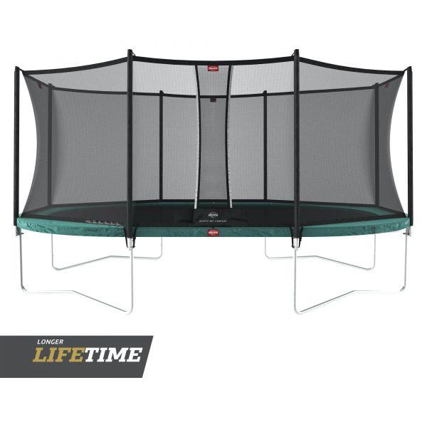 BERG Trampolin Regular GRAND Favorit Green oval 520 x 345 cm + Sicherheitsnetz Comfort