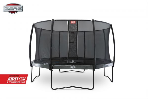 BERG Trampolin Regular Elite Grey Levels Ø430 cm + Sicherheitsnetz Deluxe