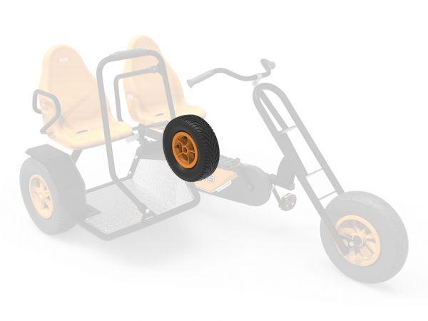 BERG Ersatzteil Komplettrad 5-Speichen Orange 400/140-8 Slick links