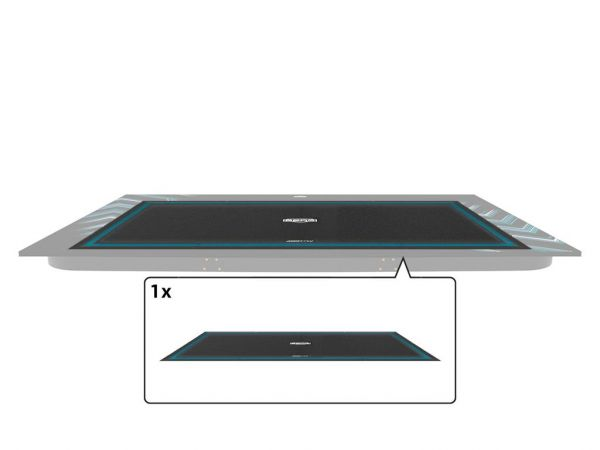 BERG Ersatzteil Sprungtuch für ULTIM Elite Schwarz 500 cm Außenrand (TwinSpring, AirFlow)