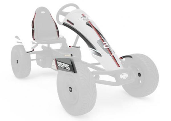 BERG Ersatzteil Sticker-Set XL Rahmen - Aufkleber Race GTS