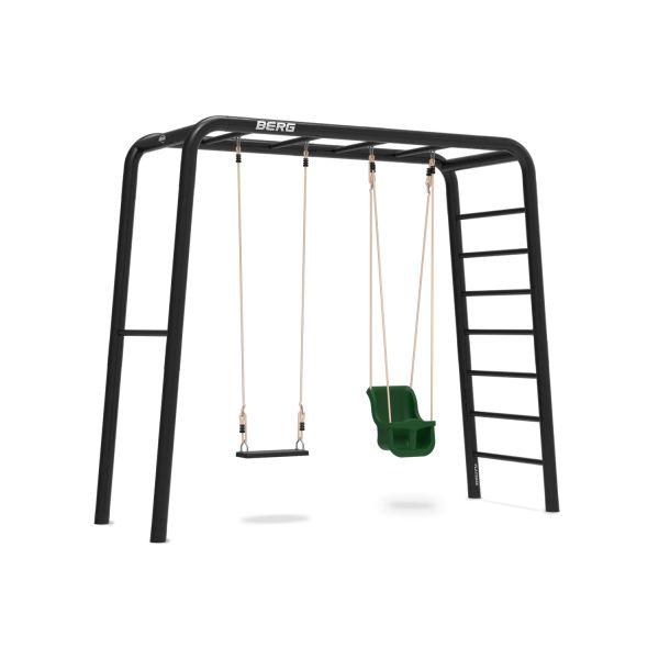 BERG PlayBase 3-in-1 Medium mit Reckstange und Leiter inkl. Babysitz und Gummischaukel