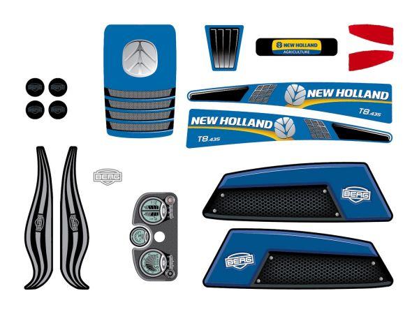 BERG Ersatzteil Sticker-Set XL Rahmen - Aufkleber New Holland