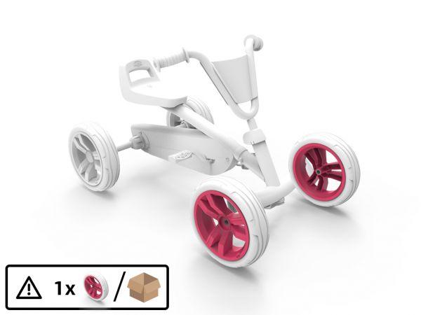 BERG Ersatzteil Rad pink/weiß 9x2 vorne