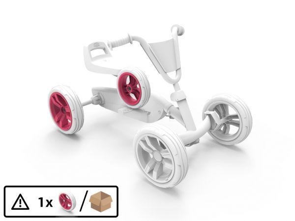 BERG Ersatzteil Rad pink/weiß 9x2 hinten