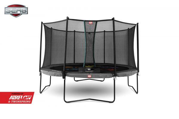 BERG Trampolin Champion Regular Ø430 cm Grey Levels + Sicherheitsnetz Comfort