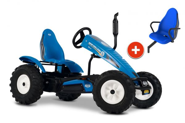 BERG Gokart Traxx New Holland BFR-3 inkl. Soziussitz New Holland