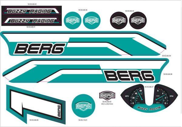 BERG Ersatzteil Sticker-Set Aufkleber Buzzy Racing