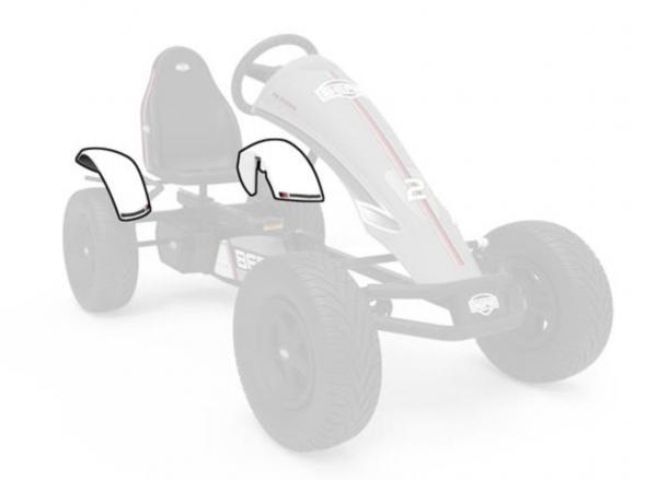BERG Ersatzteil Kotflügel hinten 71° Race GTS