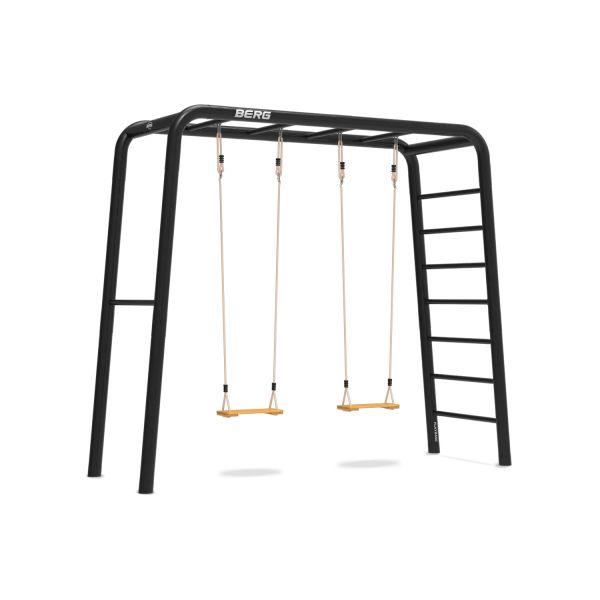 BERG PlayBase 3-in-1 Medium mit Reckstange und Leiter inkl. 2 Holzschaukeln