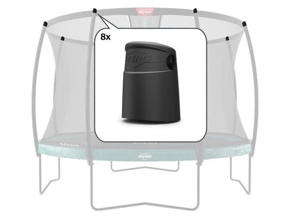 BERG Ersatzteil Sicherheitsnetz Deluxe - Abdeckkappen für oberes Rohr (8x)