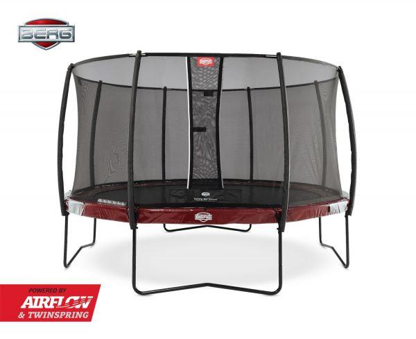 BERG Trampolin Elite Red Ø380 cm + Sicherheitsnetz Deluxe
