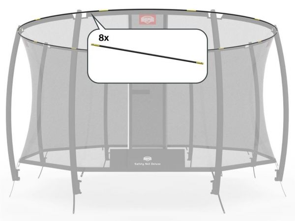 BERG Toys Ersatzteil Fiberglasstangen-Set (8X) - Sicherheitsnetz Deluxe 270