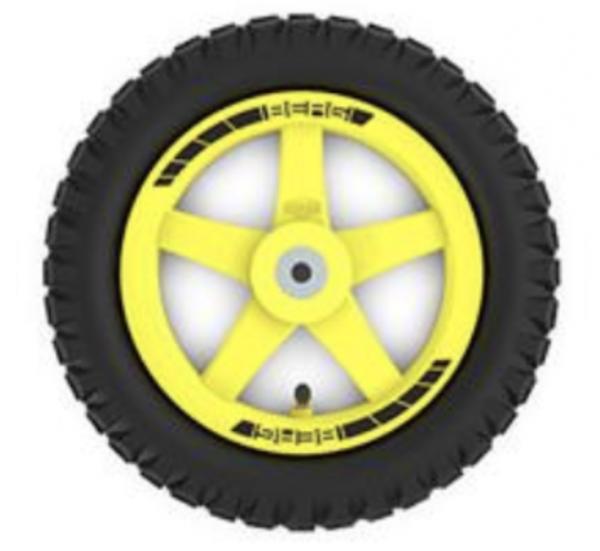 BERG Ersatzteil Rad gelb 12.5x2.25 Gelände für Buddy Cross