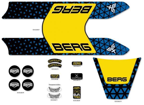 BERG Ersatzteil Sticker-Set Aufkleber Buzzy BSX