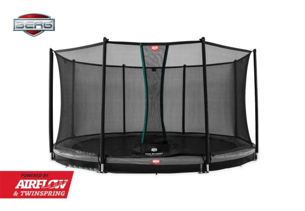 BERG Trampolin InGround Champion Grey Ø430 cm + Sicherheitsnetz Comfort