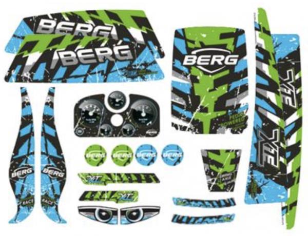 BERG Ersatzteil Sticker-Set XL Rahmen - Aufkleber X-ite
