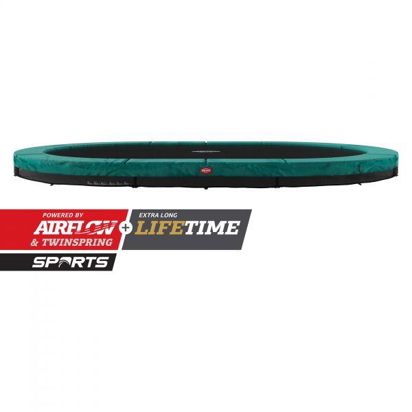BERG Trampolin InGround GRAND Champion Green oval 470 x 310 cm