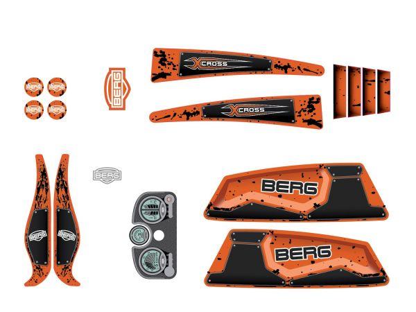 BERG Ersatzteil Sticker-Set XL Rahmen - Aufkleber X-Cross